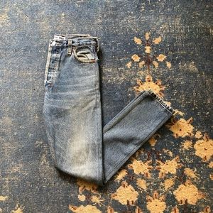Re/Done High Rise Ass Rip Skinny Jeans 24